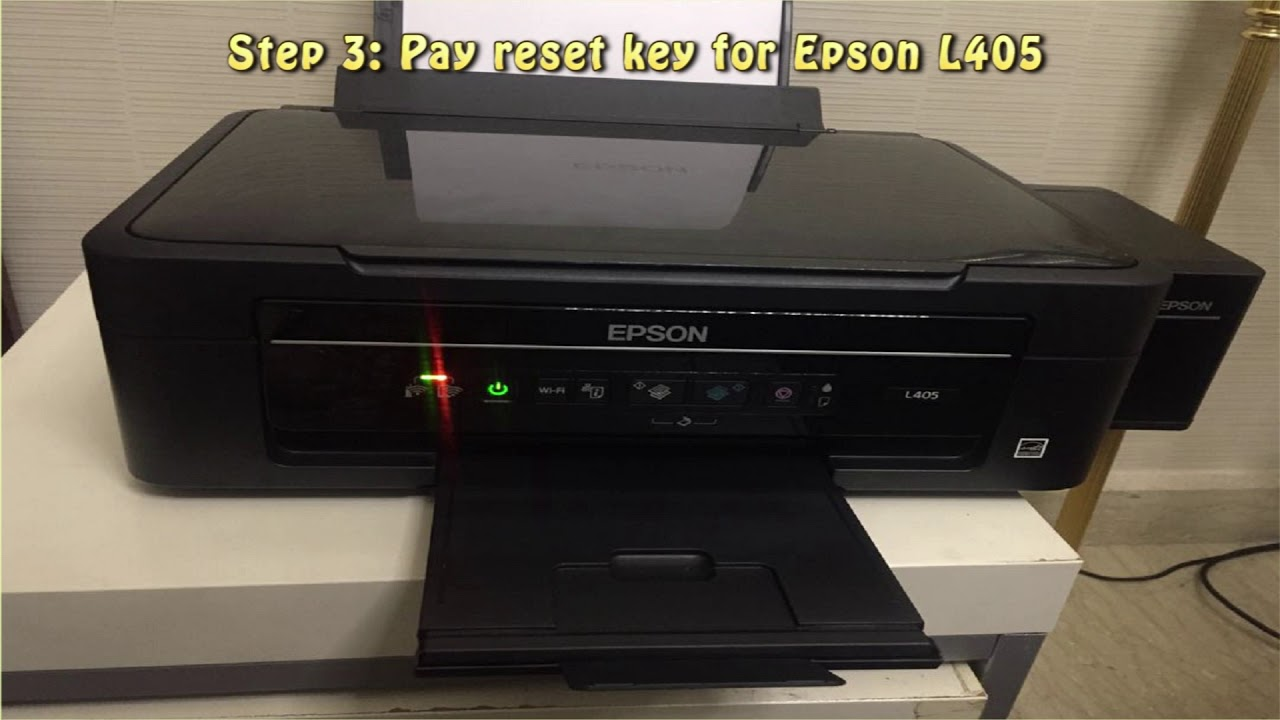 Reset Epson L405 Waste Ink Pad Counter Youtube