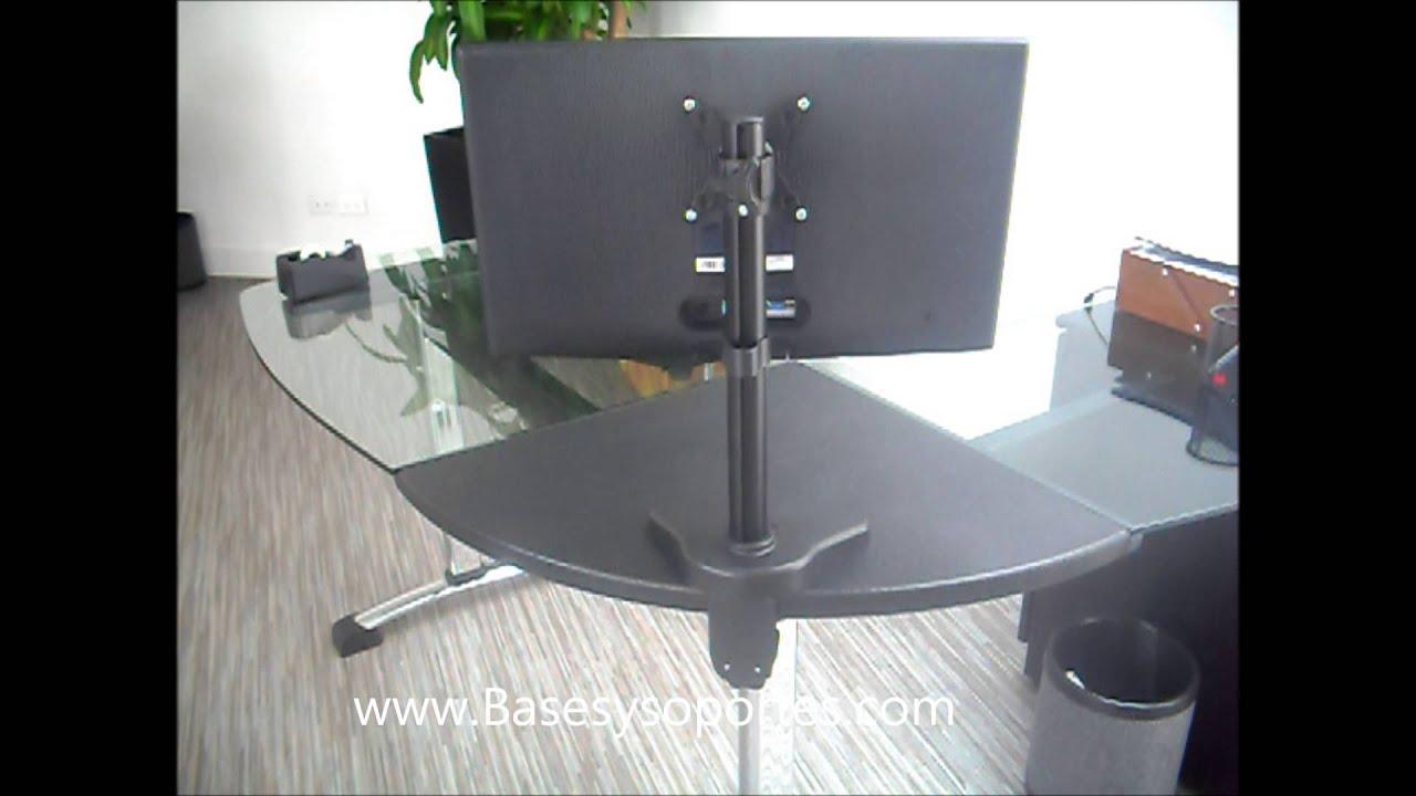 Soporte para monitor de escritorio soporte para computador for Soporte mesa tv samsung