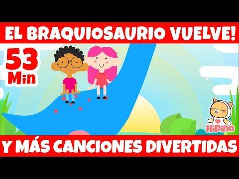 El Braquiosaurio Vuelve | Y Más Canciones Divertidas | HiDino Canciones Para Niños