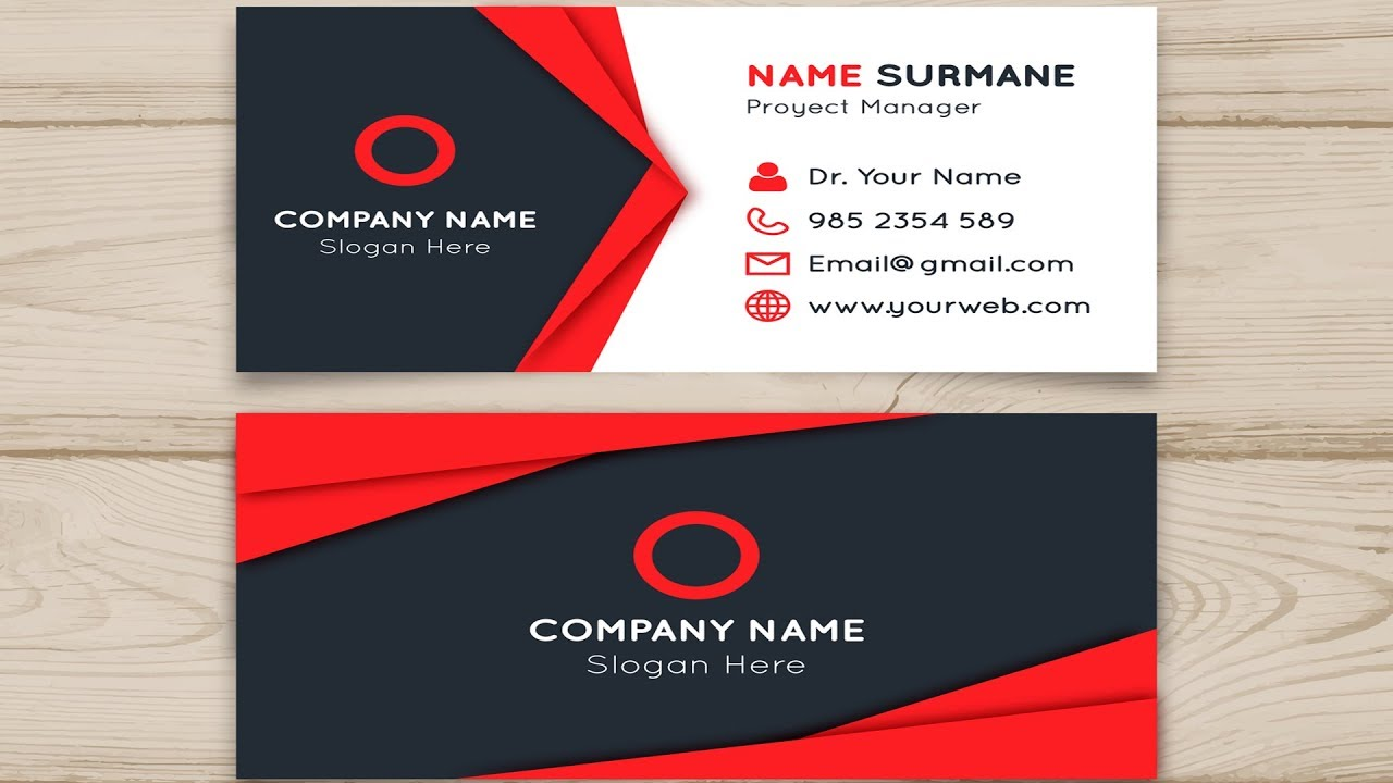 How to create simple business card in photoshop cc 2018 photoshop how design business cards in photoshop reheart Images