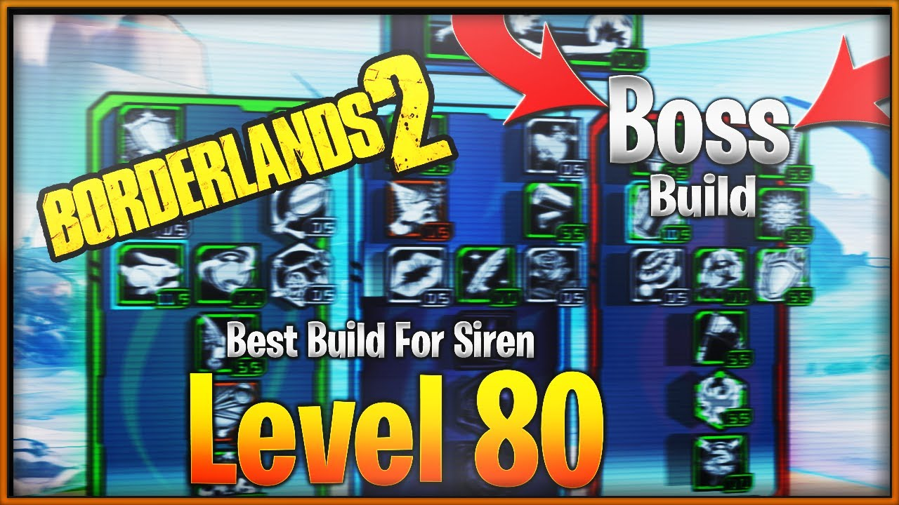 Borderlands 2- Best Build For Maya The Siren (Level 80 Raid Boss Build  &High DPS & Op 10 Build)