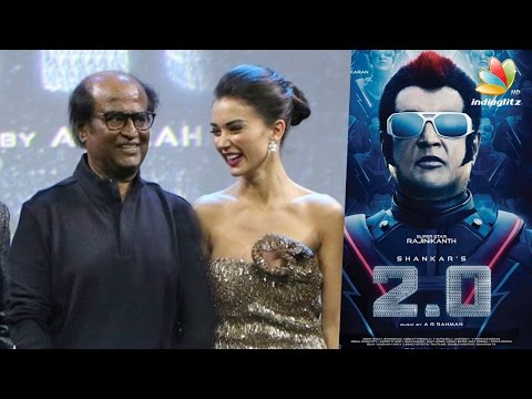 Amy Jackson reveals why Rajini gets nervous | 2.0 Hot Tamil News