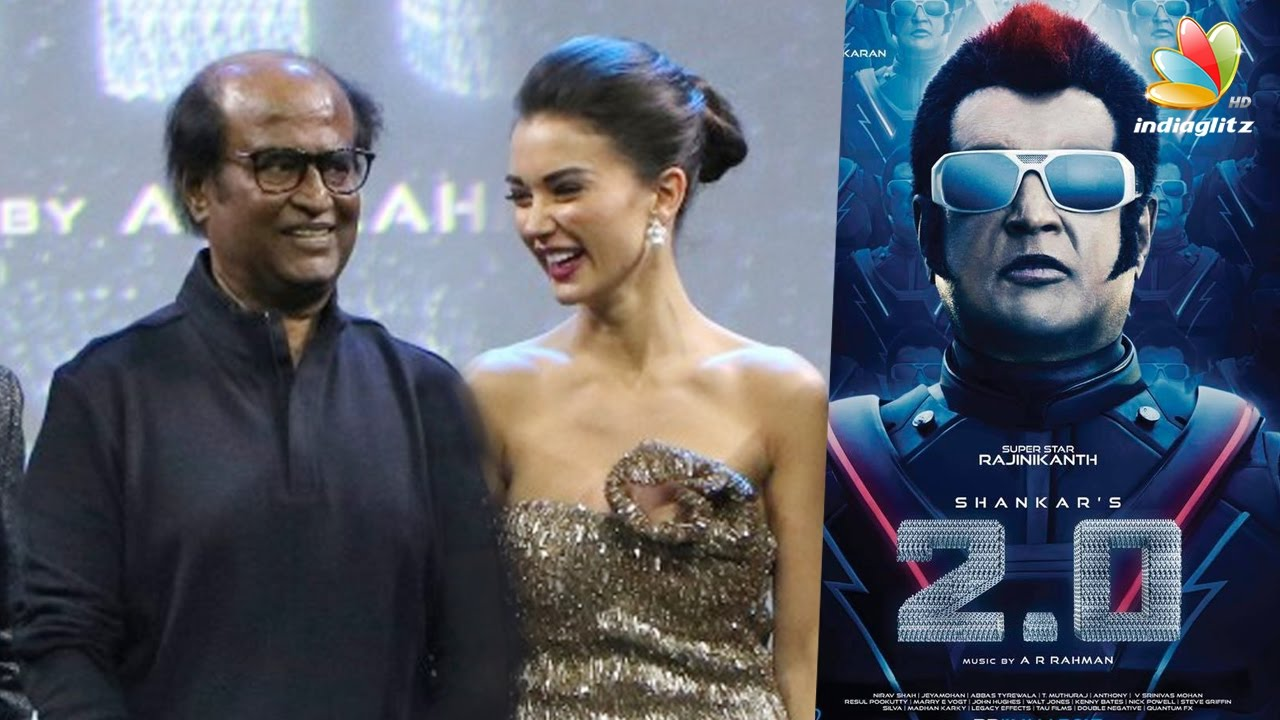 Amy Jackson reveals why Rajini gets nervous | 2.0 Hot Tamil News ...