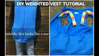 How to make a DIY Weighted Vest (Sensory) - Video Tutorial
