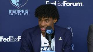 Memphis Grizzlies Introduce #2 Overall Pick Ja Morant