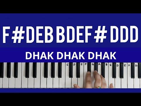 dhak-dhak-dhak-song||uppena||keyboard-tutorials||telugu-songs||full-song-tutorial||full-notes