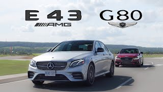 2018 Genesis G80 Sport vs Mercedes E43 AMG Review