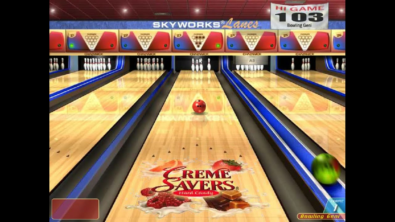 Creme Savers Ten pin Championship Bowling (Windows game ...