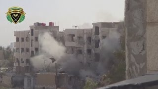 Syria: Building collapses after apparent rebel strike