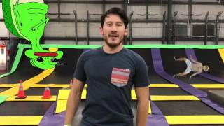 Markiplier Bounces on a Trampoline