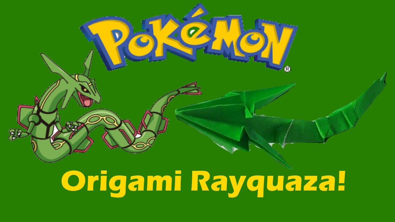 Origami Pokemon Charizard Dragon Tutorial You Rayquaza