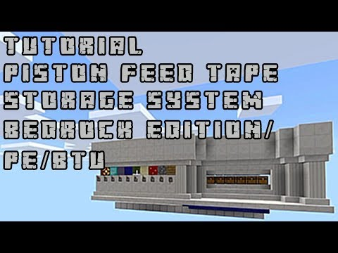 [Tutorial] Piston Feed Tape Storage System For MCPE/Bedrock Edition