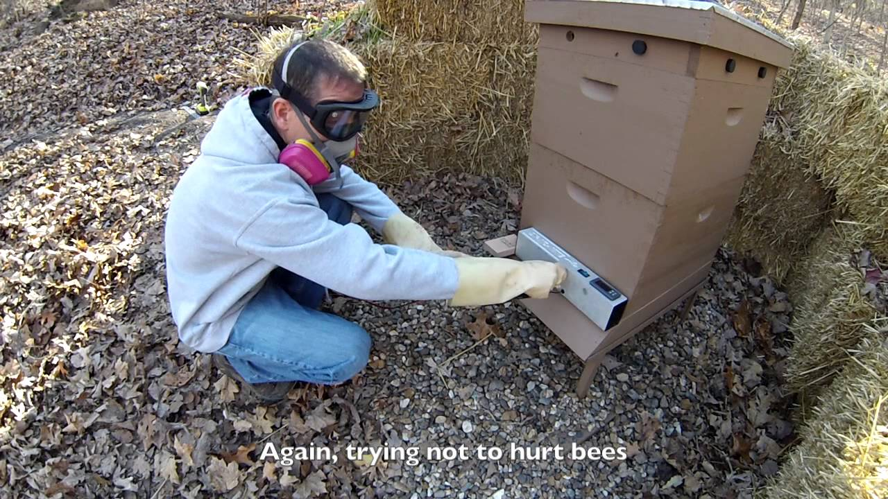 how i use oxalic acid vaporization to treat bees for