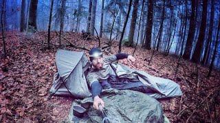 3 Tage Wildnis bei -4 °C | Mit Militär Ausrüstung - Tag 1 | Fritz Meinecke