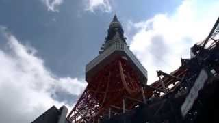 東京タワーの四本足に、工事用の足場が組み立てられていました。耐震工...