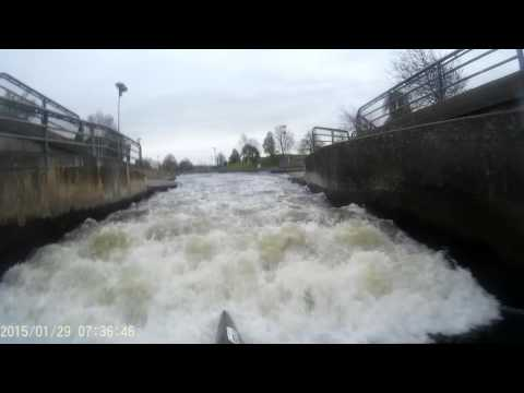Andrew Hamilton canoing down HPP in a WWR