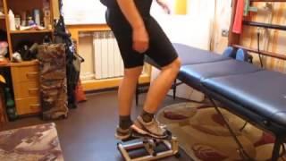 восстановление ноги после инсульта. Мини-степпер / Recovery of the leg after a stroke. Stepper