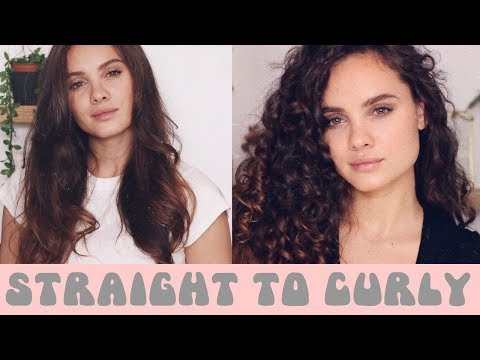 Straight to Curly Hair