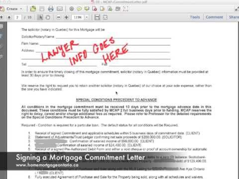 Step 3 - Breakdown Of Your Ontario Mortgage Commitment Letter And
