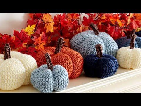Crochet Small Harvest Pumpkin