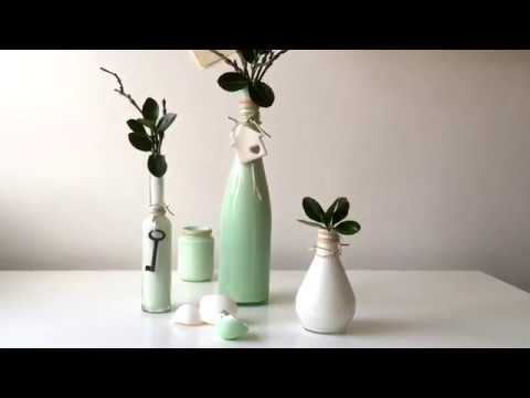 How To Make Easy Diy Painted Vases Youtube
