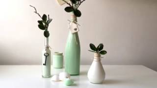 How to make easy DIY painted vases