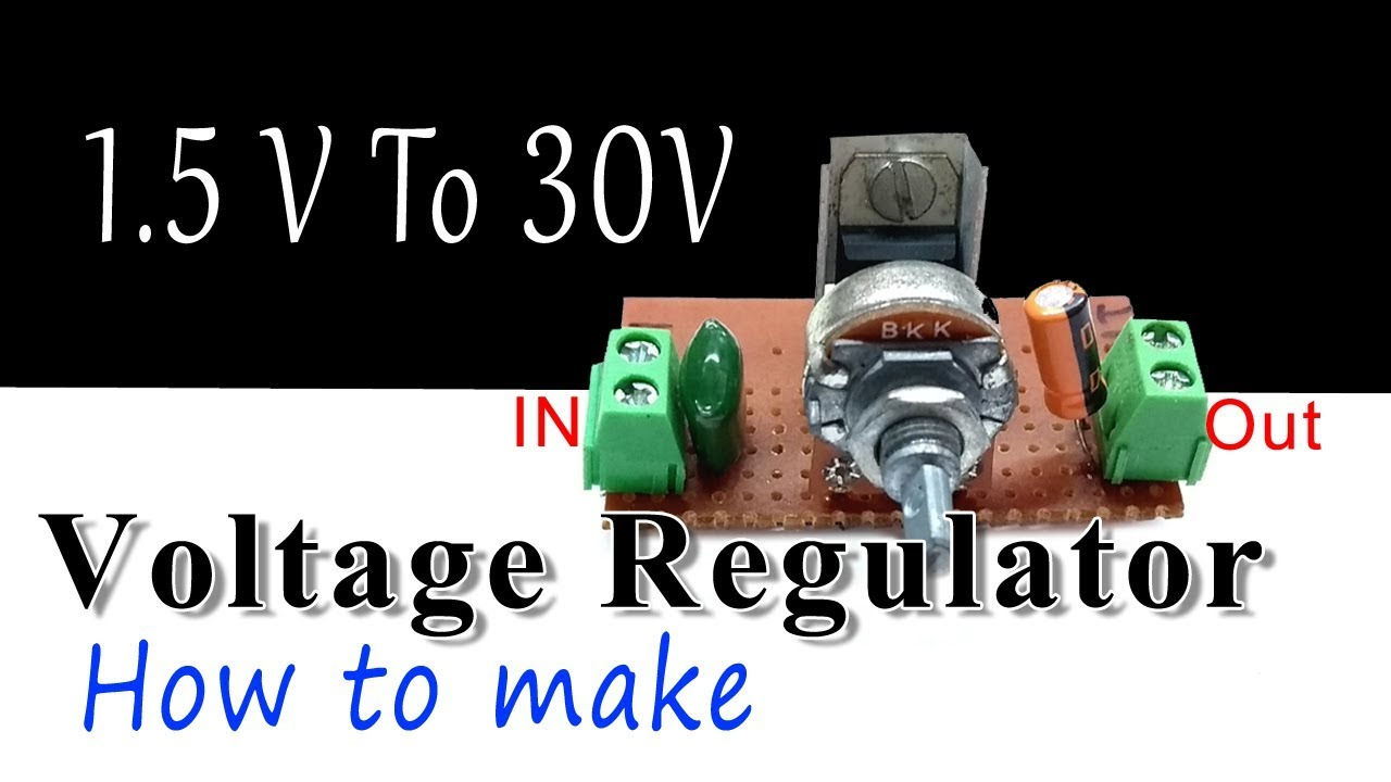 Dc Voltage Regulator Using Lm 317 Ic How To Make Youtube Motor Control Circuit Diagram Ac Current Generator Lm317t