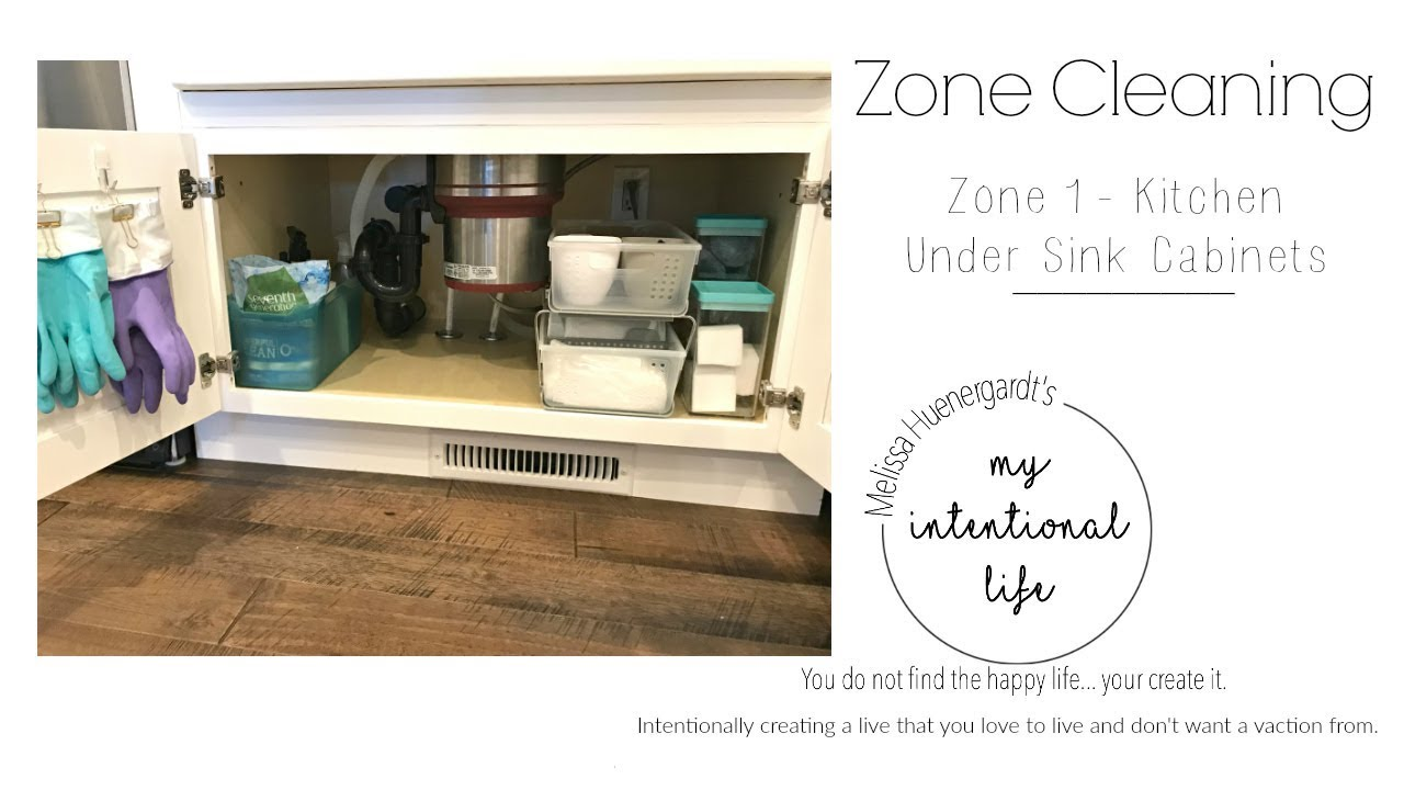 Kitchen sink organization zone cleaning my intentional life