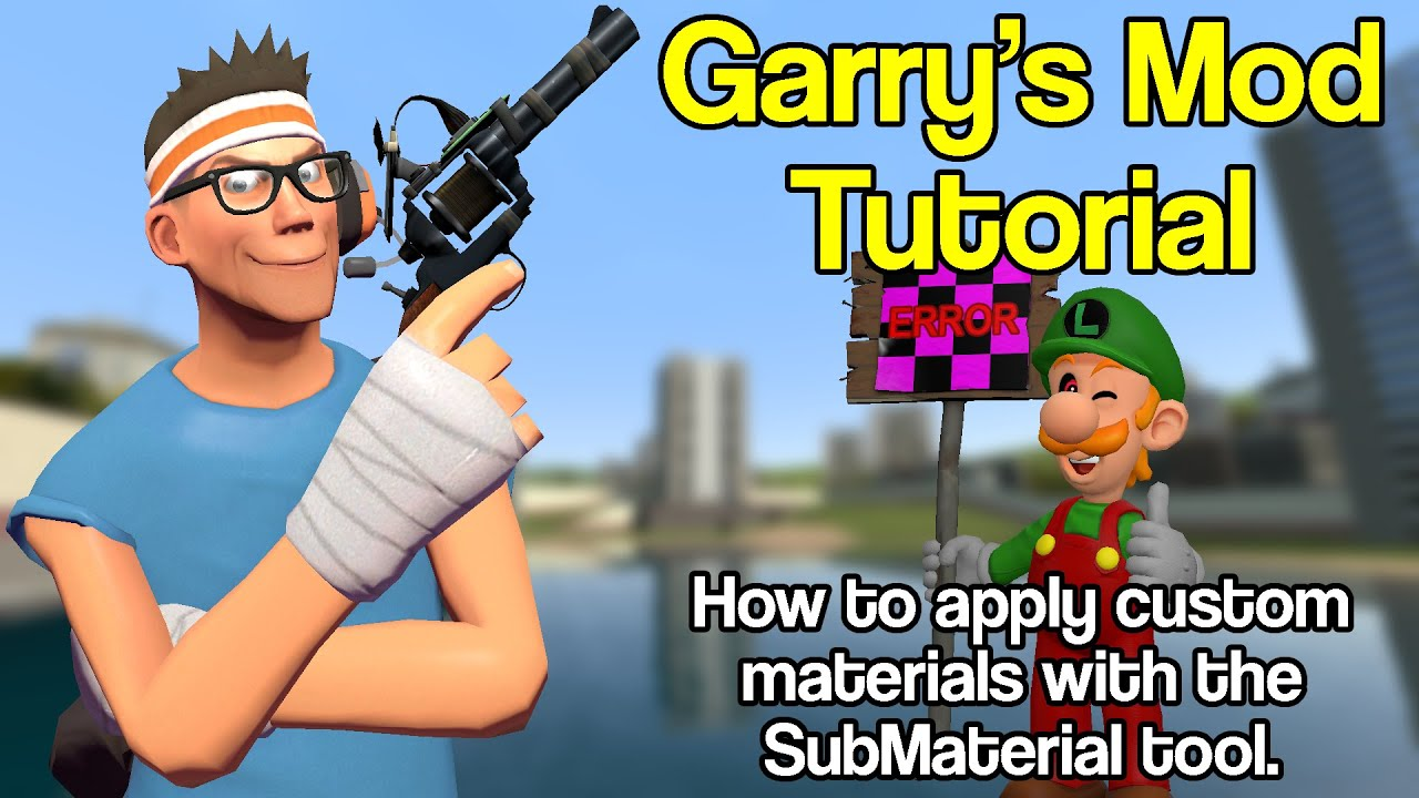 Gmod Tutorial: How to apply custom materials with the Submaterial tool