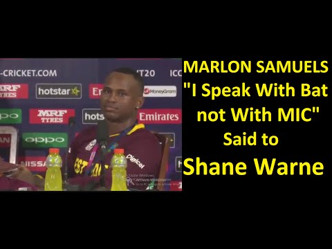 #WT20 Marlon Samuel's Taunted Shane Warne in Post Match Press Conference World Cup 2016 T20