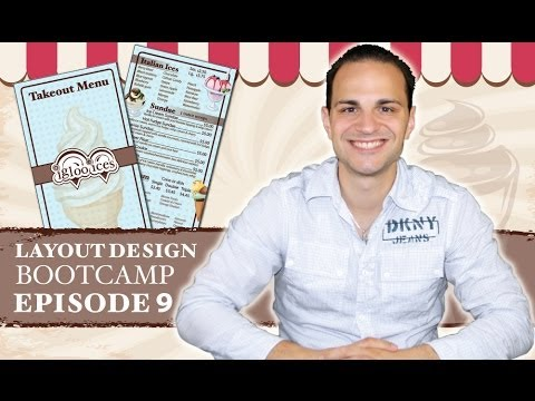 Professional Menu Graphic Design Tutorial In Adobe InDesign