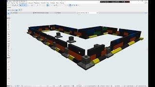 Фундамент в ArchiCad 21.. Современный коттедж в ArchiCad 21