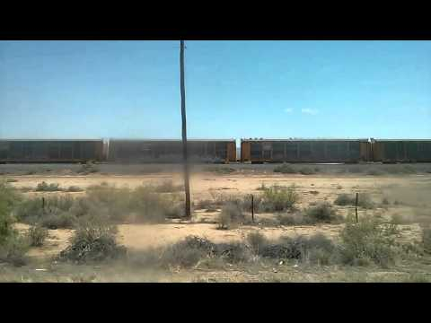Freight train in New Mexico