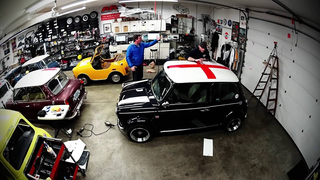 how to install a union jack decal on a classic mini cooper. Black Bedroom Furniture Sets. Home Design Ideas