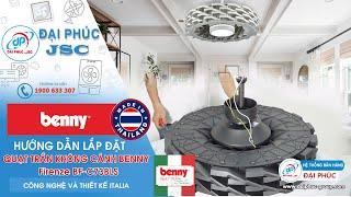 Lắp Đặt Quạt trần Benny FIRENZE BF-C73BLS - Công nghệ Ý - SX tại Thái Lan