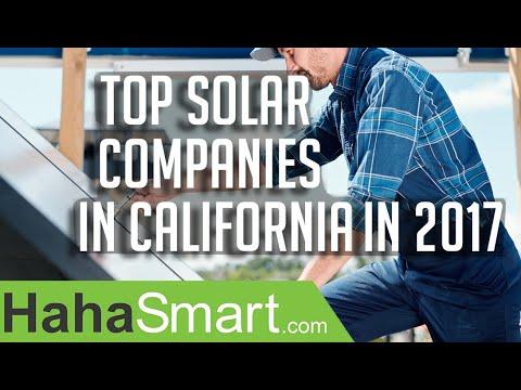 Top solar companies in California in 2017