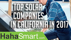Top solar companies in California in 2017