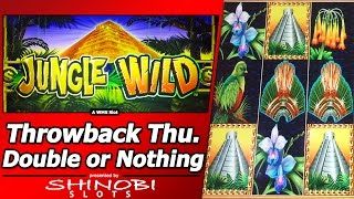 Jungle Wild Slot - Throwback Thursday Double or Nothing, Live Play with Free Spins Bonus