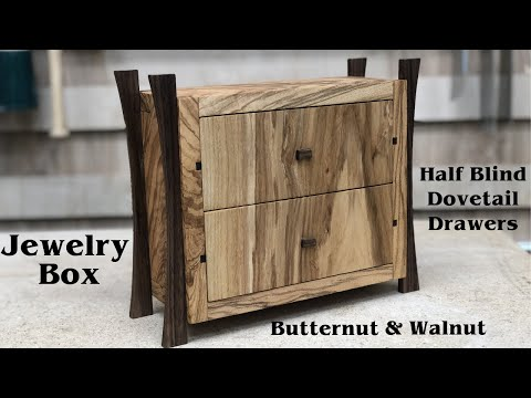 Jewelry Box with Finger Joints and Half Blind Dovetails  // How To - Woodworking