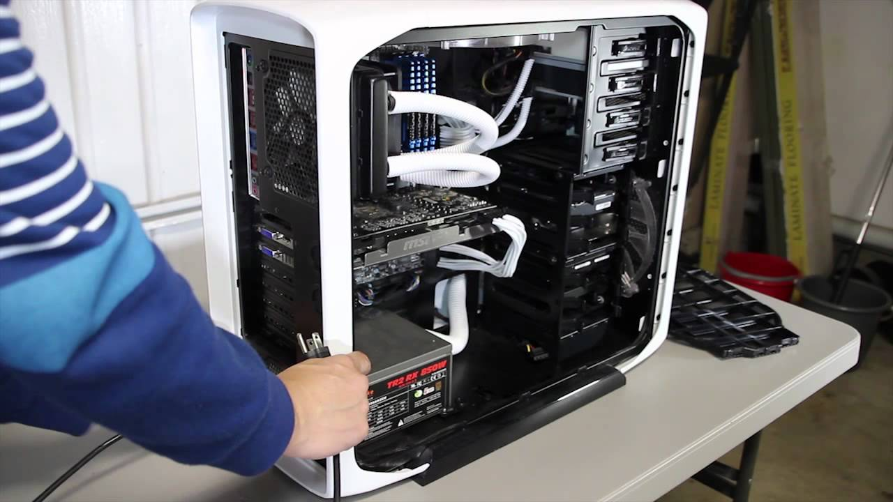 Tips For Cleaning A Computer Corsair 600t White Youtube