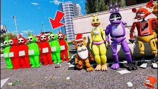 - CAN SANTA FREDDY ANIMATRONICS DEFEAT THE CHRISTMAS SLENDERTUBBIES GTA 5 Mods FNAF RedHatter