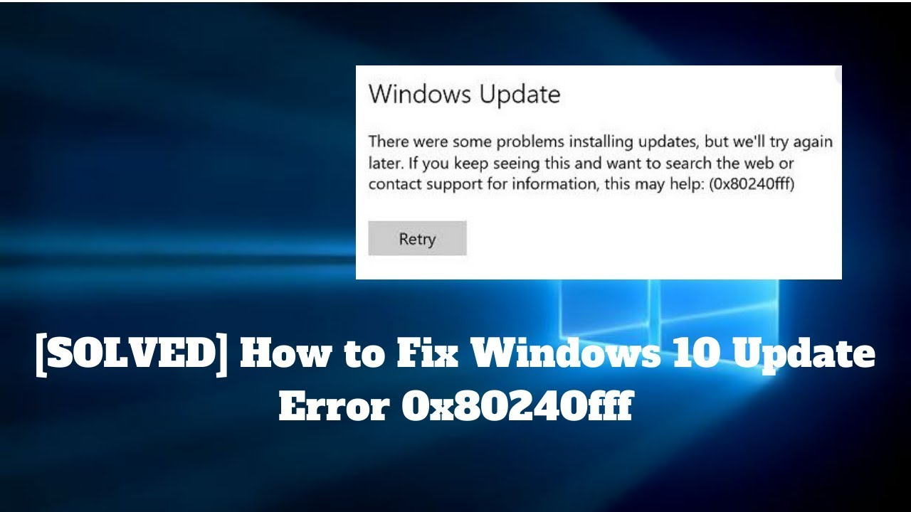 Làm Cách Nào Để Khắc Phục Lỗi Cập Nhật Windows 10 0x8024ce0e? - vera star