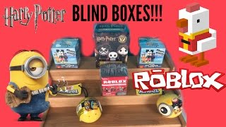 Blind Box Unboxing of Harry Potter Vinyl Figure, Disney Crossy Road, Roblox and Mineez