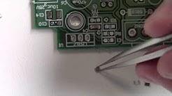 How to solder SMT 0805 resistors capacitors(2/2)