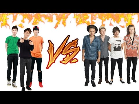 Vocal Battle: EXO Vs. One Direction [Belted Notes: F4-C#5(F#5)] (Live Version)