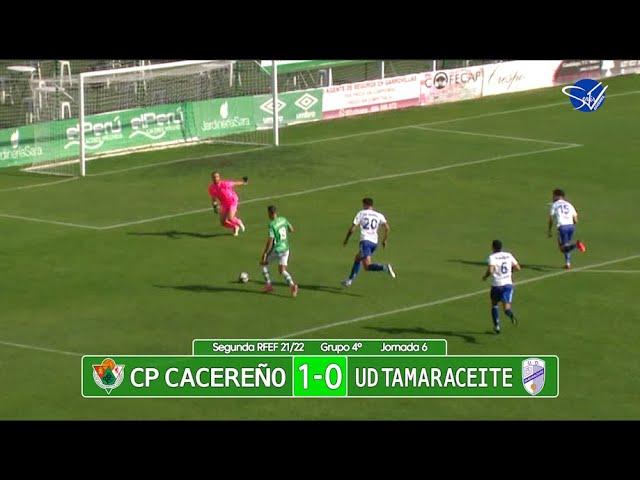 Resumen: CP Cacereño - UD Tamaraceite (2ª RFEF Gr.IV 21/22)