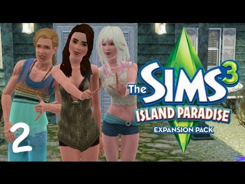 Let's Play The Sims 3 Island Paradise - (Part 2) - Houseboats and Speeding Taxis!