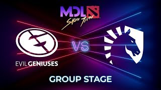 Evil Geniuses vs Team Liquid - MDL Macau 2019: Group Stage