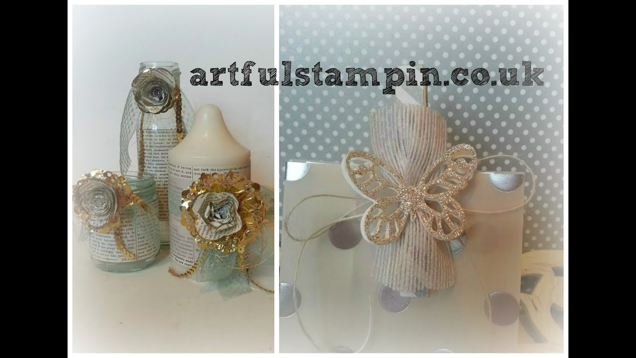 Wedding Gift Ideas Youtube : aRTful Stampin- Wedding decoration and gift bag ideas}YouTube