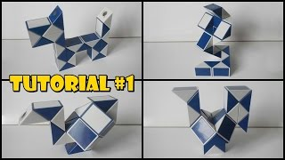 Rubik's Twist 24 Tutorial #1 - Dog - Cobra 1 - Swan 1 - Rooster